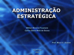 Fundamentos de Marketing para a Administração Estratégica A