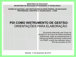 PDI como instrumento de gestão: orientações para elaboração