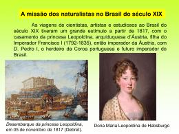 A missão dos naturalistas no Brasil do século XIX