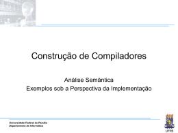 Exemplos práticos - Departamento de Informática — UFPB