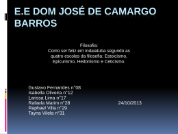 E.E DOM JOSÉ DE CAMARGO BARROS