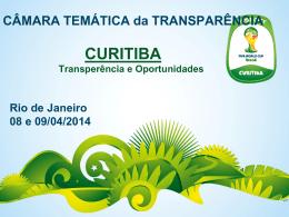 CÂMARA TEMÁTICA da TRANSPARÊNCIA CURITIBA