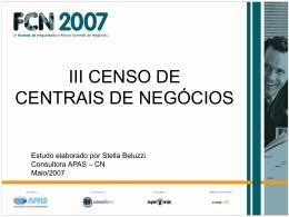 III Censo CN 2007