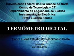 TERMÔMETRO DIGITAL - DEE - Departamento de Engenharia