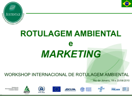 Rotulagem Ambiental e Marketing