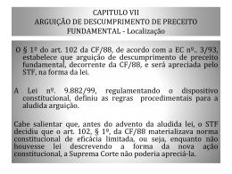 CAP. VII ARGUIÇÃO ADPF