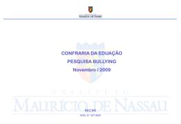 Confraria da Educação - Bullying (novembro 2009)