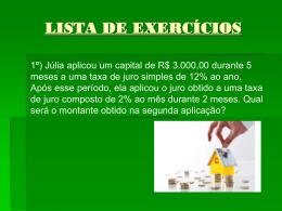 Juros Compostos (Exercícios)