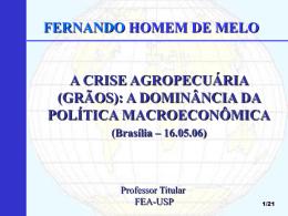 desafios agrícolas da política econômica