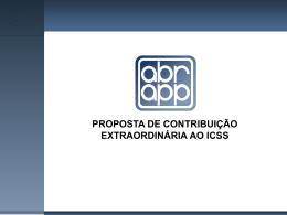 proposta de contribuição extraordinária ao icss exposição