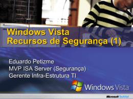 Security Features in Windows Vista - Center