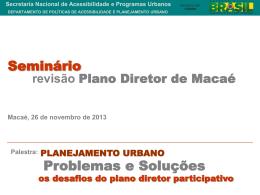 Planejamento Urbano e Plano Diretor