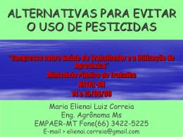 Alternativas para evitar o uso de pesticidas