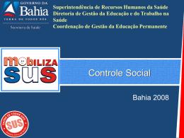 Apresentação Controle Social - Diretoria de Gestão da Educação e