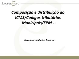 Curso formação de gestores públicos – ICMS – FPM