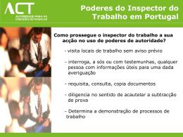 Poderes do Inspector do Trabalho em Portugal Como prossegue o