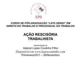 HIPÓTESES LEGAIS I - Gabriel Lopes Coutinho Filho