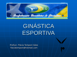 GINÁSTICA ESPORTIVA