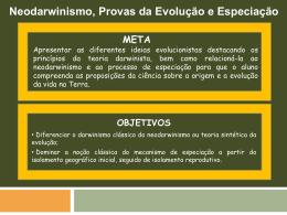 Neodarwinismo, Provas da Evolução e Especiação