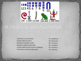 historia dos numeros