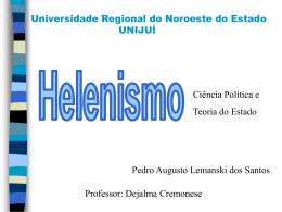 Helenismo - Capital Social Sul