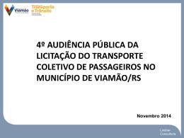 4º Audiência de Rede Transporte Viamão
