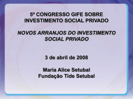 Maria Alice Setubal