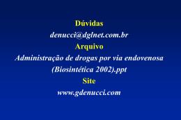 Concentração (mg/L) - Gilberto De Nucci . com
