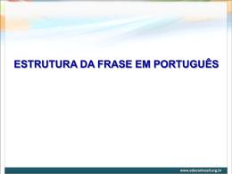 Estrutura da frase em português