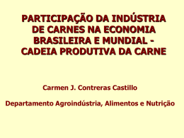 CADEIA PRODUTIVA DA CARNE