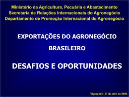 Slide 1 - Ministério da Agricultura