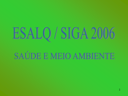 SIGA 2006 - SAÚDE E MEIO AMBIENTE - por
