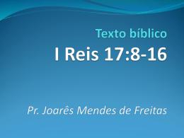 Texto bíblico I Reis 17:8-16