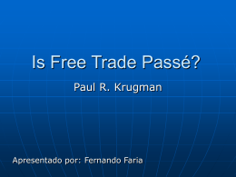 Is Free Trade Passé? (Paul Krugman - PET