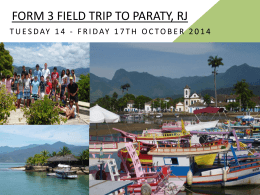 F3 Field Trip to Paraty Presentation 2014
