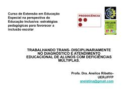 Curso de Extensão em Educação Especial na perspectiva da