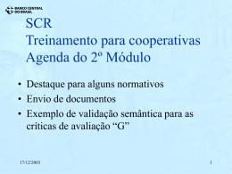 SCR - Simulação do Doc 3030
