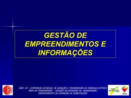 gestão de empreendimentos e informações