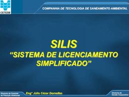 COMPANHIA DE TECNOLOGIA DE SANEAMENTO AMBIENTAL