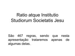 Ratio atque Institutio Studiorum Societatis Jesu