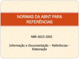 Aula 4-ABNT - abril 2012 - Departamento de Química