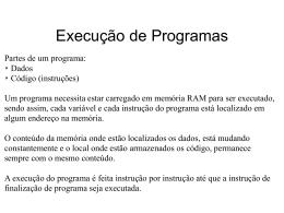 Execução de Programas