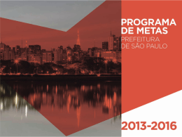 Elaboração do Plano de Metas - Programa Cidades Sustentáveis