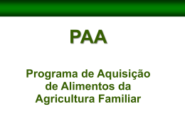 Programa de Aquisição de Alimentos da Agricultura Familiar