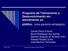 Treinamento e Desenvolvimento Profissional: um programa