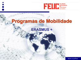 Sessão divulgação ERASMUS GRI-FEUC