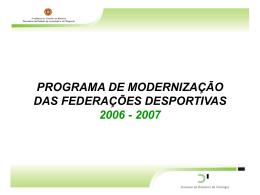 programa de modernização das federações desportivas 2006