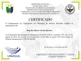 Certificados-Delegados UNASUL - cecafa