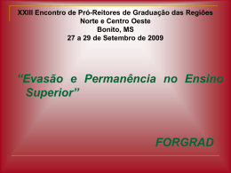 Forgrad Norte Centro-Oeste - Universidade Estadual de Mato