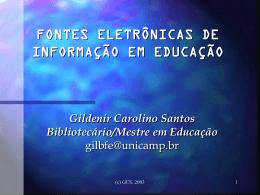 fontes eletrônicas de informação em educação